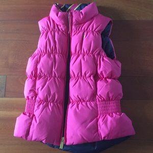 Ralph Lauren reversible hot pink/navy puffy vest